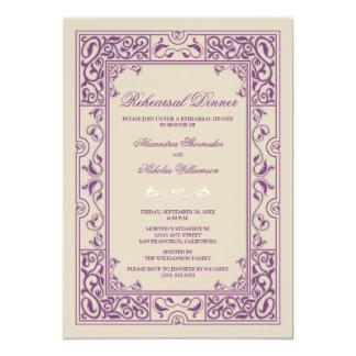 Classic Vignette Rehearsal Dinner Invite (purple)