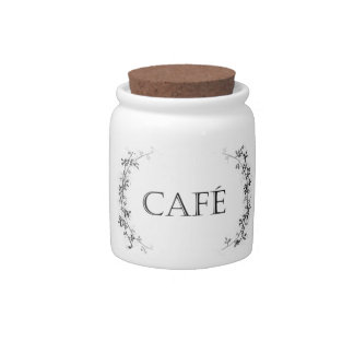 Classic Vine Design Coffee Cafe Jar Container Candy Jar