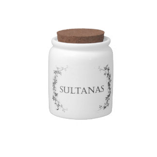 Classic Vine Design Sultana Jar Container Candy Jars