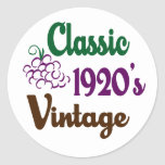 Classic Vintage 1920's Round Stickers