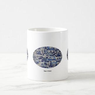 Classic Vintage Antique Christmas Holiday Village Coffee Mug