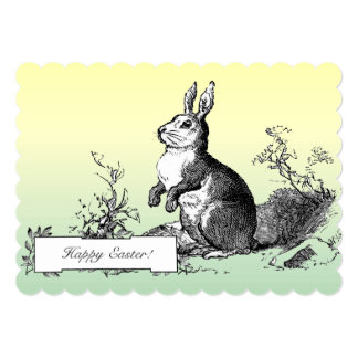 Classic Vintage Bunny Easter Personalized Greeting Card