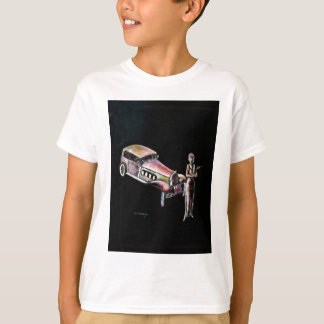 classic vintage car and 1920s style art deco lady T-Shirt