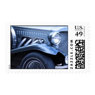 Classic Vintage Car Chrome and Lights Stamps