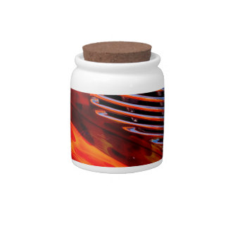 Classic Vintage Car Flame Paint Chrome Red Candy Jars
