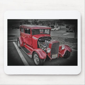 Classic Vintage Custom Classic Red Hot Rod HDR Mouse Pads