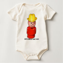 Classic vintage farmer cowboy child's toy gifts baby bodysuit