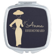 Classic Vintage Fashion Bridal Compact Mirror