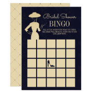 Classic Vintage Fashion Bridal Shower Bingo Card