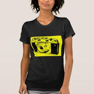 Classic/Vintage Film Camera Upon Yellow Backround T-Shirt