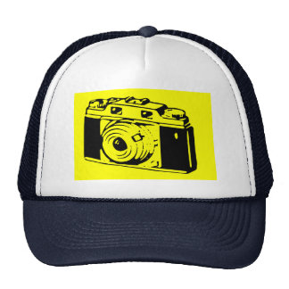 Classic/Vintage Film Camera Upon Yellow Backround Trucker Hat