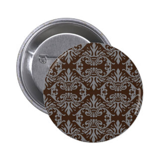 classic vintage French style wallpaper design Pinback Button