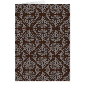 classic vintage French style wallpaper design Card