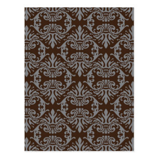 classic vintage French style wallpaper design Postcard
