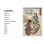 Classic vintage geisha ukiyo-e Utagawa scroll Business Card