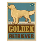 Classic Vintage Golden Retriever Postcard