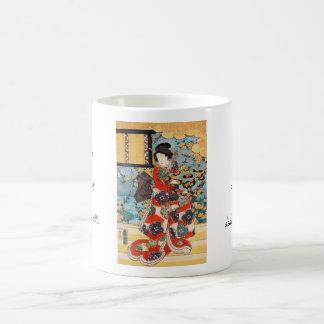 Classic vintage japanese geisha  ukiyo-e Utagawa Coffee Mug