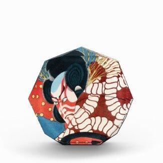 Classic vintage japanese kabuki samurai Utagawa Acrylic Award