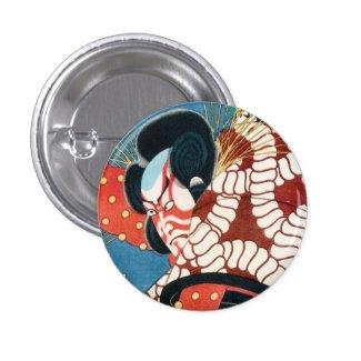 Classic vintage japanese kabuki samurai Utagawa Buttons