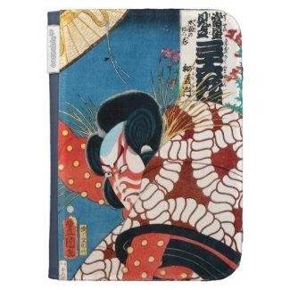 Classic vintage japanese kabuki samurai Utagawa Kindle Case