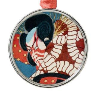 Classic vintage japanese kabuki samurai Utagawa Ornaments