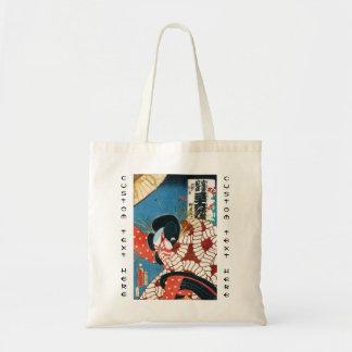 Classic vintage japanese kabuki samurai Utagawa Tote Bag