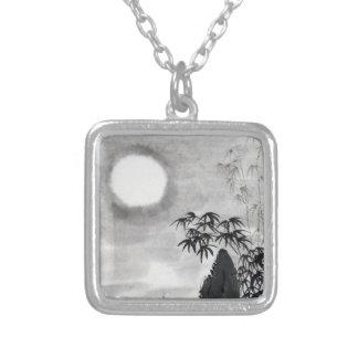 Classic vintage japanese night moon scenery sumi-e custom jewelry