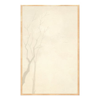Classic vintage japanese night moon scenery sumi-e stationery
