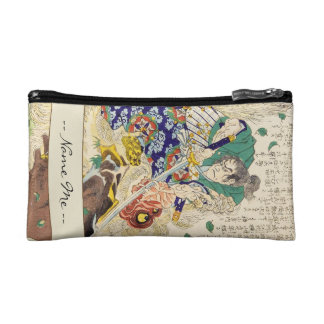 Classic Vintage Japanese Samurai Warrior General Cosmetic Bag