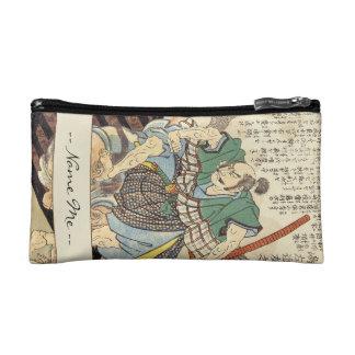 Classic Vintage Japanese Samurai Warrior General Makeup Bag