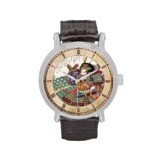 Classic Vintage Japanese Samurai Warrior General Wrist Watch