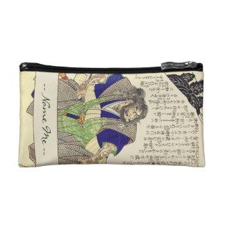 Classic Vintage Japanese Samurai Warrior Ronin Makeup Bag
