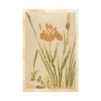Classic vintage japanese sumi-e flower floral art canvas prints