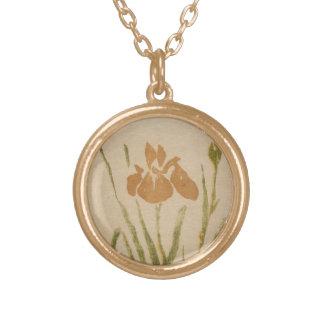 Classic vintage japanese sumi-e flower floral art custom jewelry