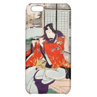 Classic vintage japanese ukiyo-e flute player art iPhone 5C case