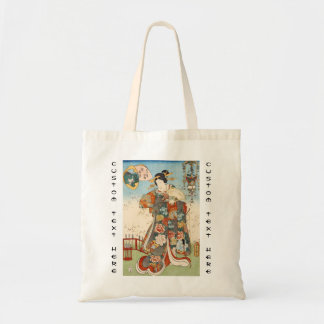 Classic vintage japanese ukiyo-e geisha Utagawa Canvas Bag