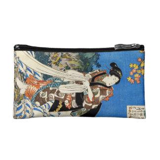 Classic vintage japanese ukiyo-e geisha Utagawa Cosmetic Bags