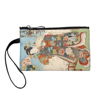 Classic vintage japanese ukiyo-e geisha Utagawa Coin Purses
