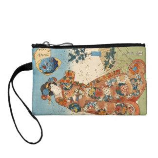 Classic vintage japanese ukiyo-e geisha Utagawa Coin Purse