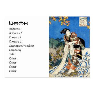 Classic vintage japanese ukiyo-e geisha Utagawa Large Business Cards (Pack Of 100)