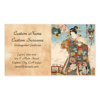 Classic vintage japanese ukiyo-e geisha Utagawa Double-Sided Standard Business Cards (Pack Of 100)