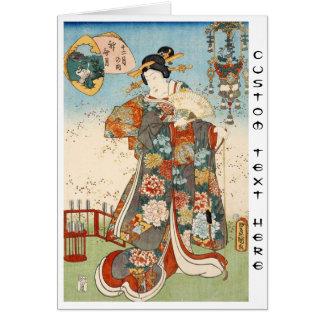Classic vintage japanese ukiyo-e geisha Utagawa Stationery Note Card