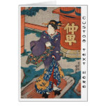Classic vintage japanese ukiyo-e geisha Utagawa Greeting Card