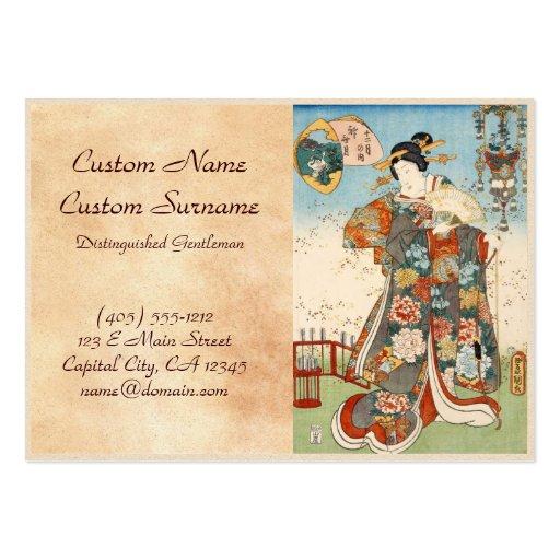 Classic vintage japanese ukiyo-e geisha Utagawa Large Business Card