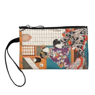 Classic vintage japanese ukiyo-e geishas Utagawa Change Purse
