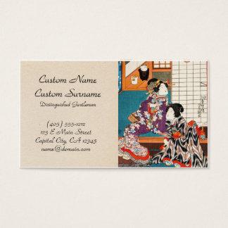 Classic vintage japanese ukiyo-e geishas Utagawa Business Card