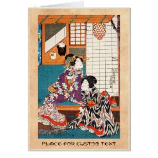 Classic vintage japanese ukiyo-e geishas Utagawa Stationery Note Card