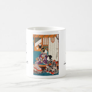 Classic vintage japanese ukiyo-e geishas Utagawa Classic White Coffee Mug
