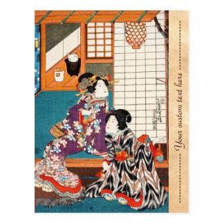 Classic vintage japanese ukiyo-e geishas Utagawa Post Card