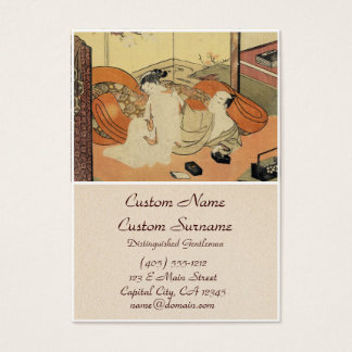 Classic vintage japanese ukiyo-e oiran art business card